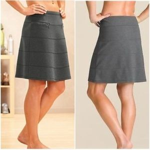 Athleta Strata Grey Ponte Front Zipper Skirt